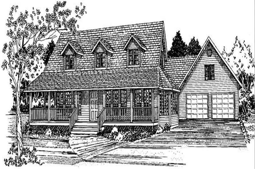 Home Plan Front Elevation of this 3-Bedroom,2577 Sq Ft Plan -177-1010