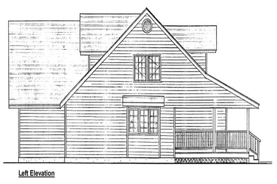 Home Plan Left Elevation of this 3-Bedroom,2577 Sq Ft Plan -177-1010