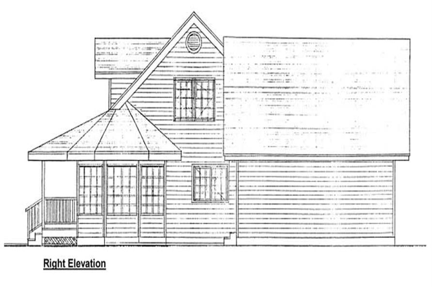 Home Plan Right Elevation of this 3-Bedroom,2577 Sq Ft Plan -177-1010