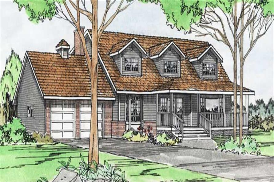 4-Bedroom, 2370 Sq Ft Cape Cod House Plan - 177-1011 - Front Exterior