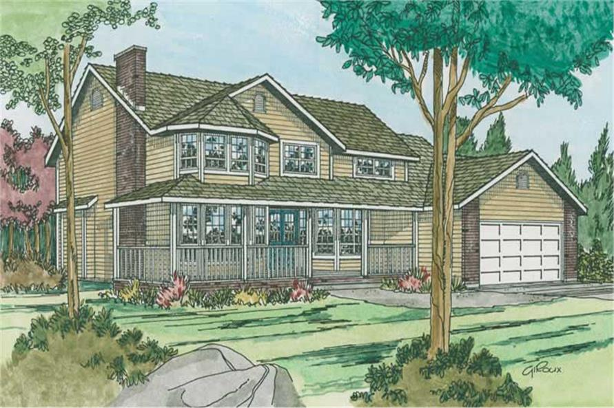 Main image for house plan # 13080
