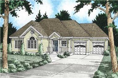3-Bedroom, 1407 Sq Ft Craftsman Home Plan - 177-1017 - Main Exterior