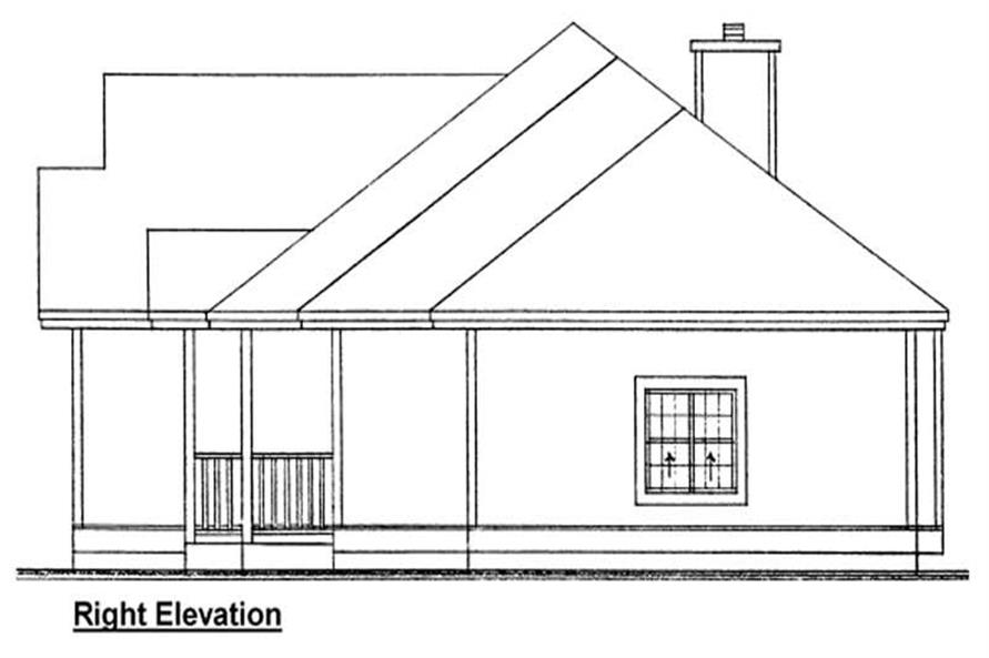 Home Plan Right Elevation of this 3-Bedroom,1407 Sq Ft Plan -177-1017