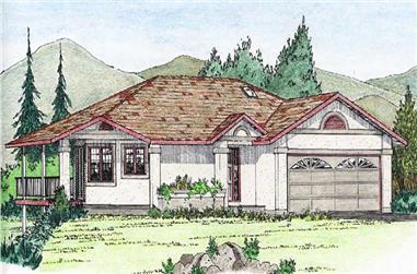 3-Bedroom, 1396 Sq Ft Ranch Home Plan - 177-1019 - Main Exterior