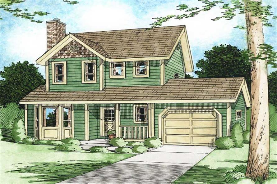 3-Bedroom, 1206 Sq Ft Multi-Level Home Plan - 177-1021 - Main Exterior
