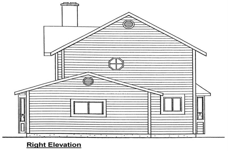 Home Plan Right Elevation of this 3-Bedroom,1206 Sq Ft Plan -177-1021