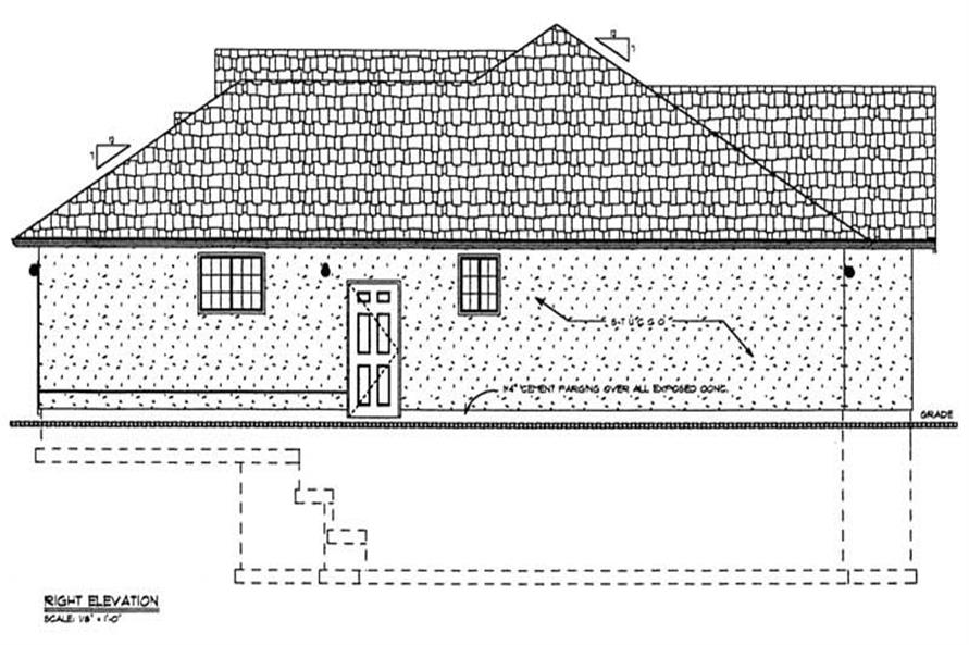 Home Plan Right Elevation of this 3-Bedroom,1626 Sq Ft Plan -177-1022