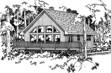 3-Bedroom, 1011 Sq Ft Small House Plans - 177-1023 - Main Exterior