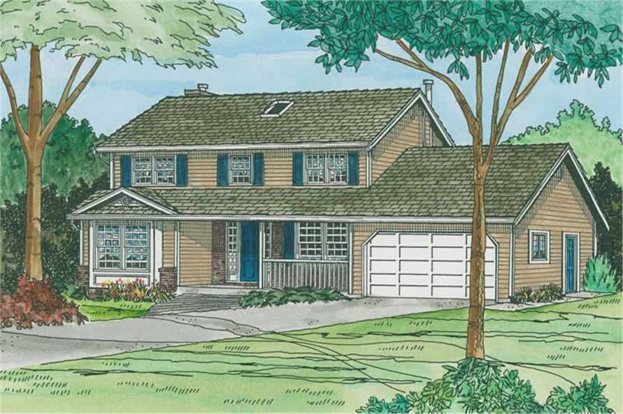 Main image for house plan # 13091