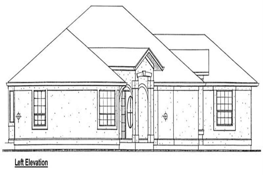 Home Plan Left Elevation of this 3-Bedroom,1833 Sq Ft Plan -177-1025