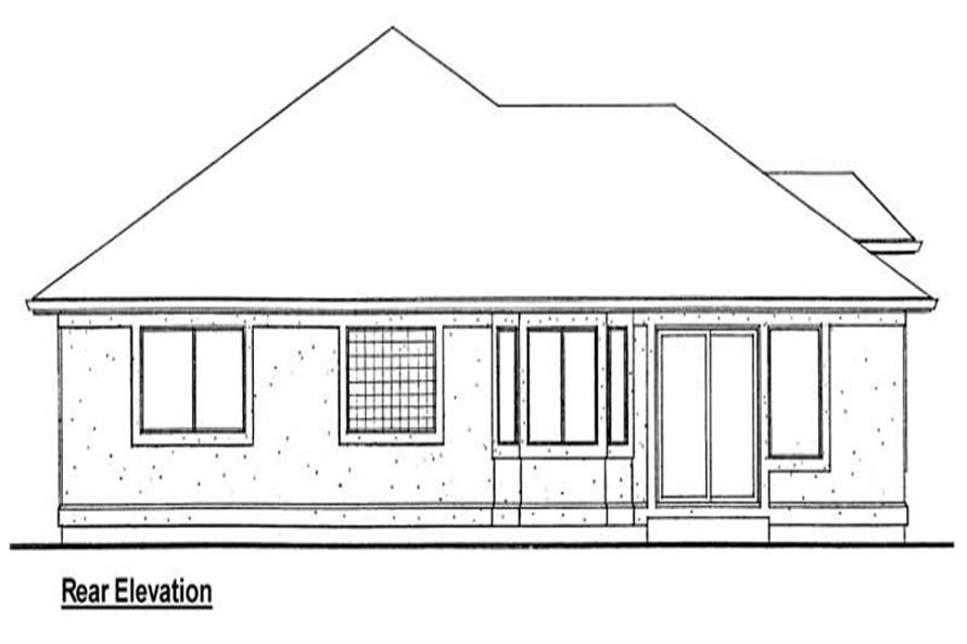 Home Plan Rear Elevation of this 3-Bedroom,1833 Sq Ft Plan -177-1025