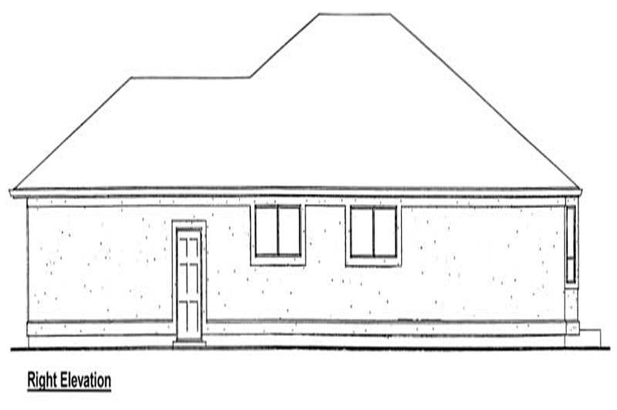 Home Plan Right Elevation of this 3-Bedroom,1833 Sq Ft Plan -177-1025