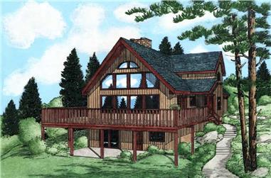 3-Bedroom, 1547 Sq Ft Country House Plan - 177-1029 - Front Exterior