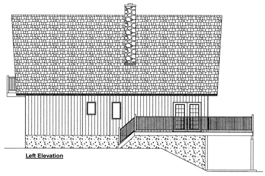 Home Plan Left Elevation of this 3-Bedroom,1547 Sq Ft Plan -177-1029
