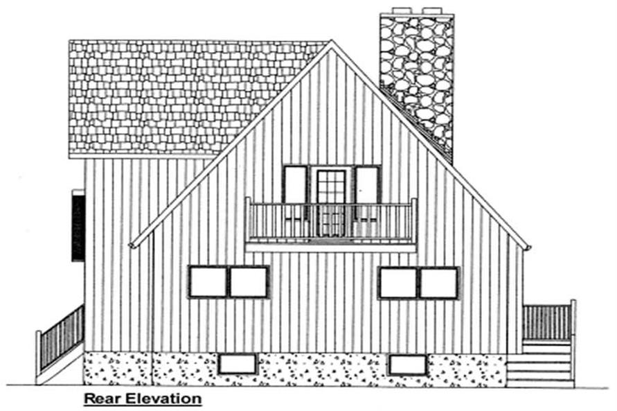 Home Plan Rear Elevation of this 3-Bedroom,1547 Sq Ft Plan -177-1029