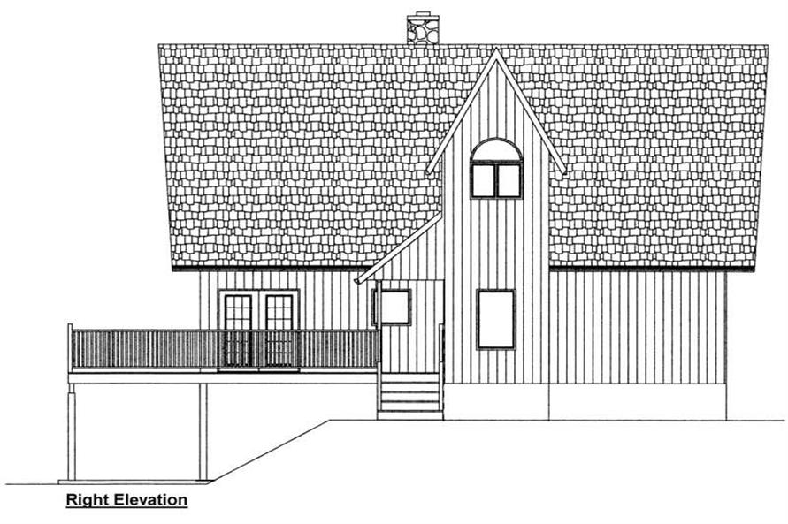 Home Plan Right Elevation of this 3-Bedroom,1547 Sq Ft Plan -177-1029