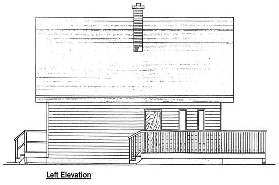 Home Plan Left Elevation of this 3-Bedroom,1362 Sq Ft Plan -177-1030