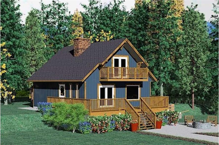 2-Bedroom, 1362 Sq Ft Log Cabin Home Plan - 177-1030 - Main Exterior