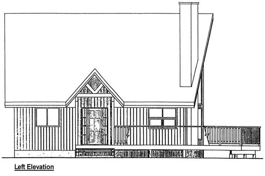 Home Plan Left Elevation of this 2-Bedroom,1677 Sq Ft Plan -177-1032