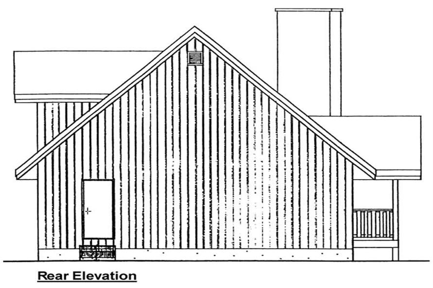Home Plan Rear Elevation of this 2-Bedroom,1677 Sq Ft Plan -177-1032