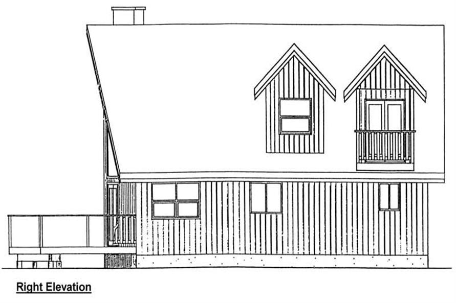Home Plan Right Elevation of this 2-Bedroom,1677 Sq Ft Plan -177-1032