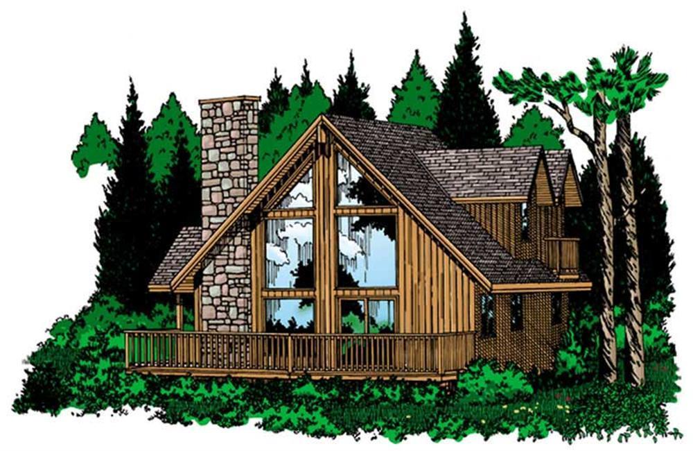 177-1032: Home Plan Rendering