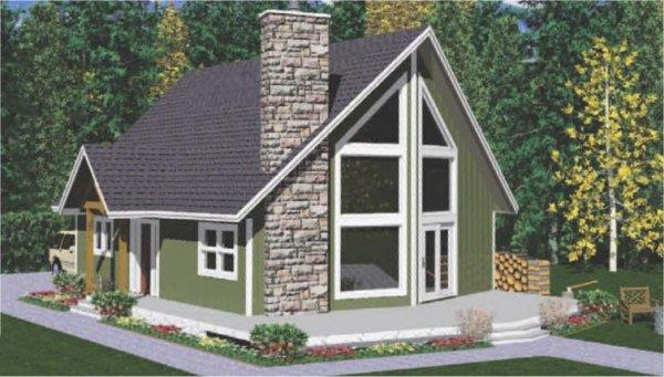 177-1032: Home Plan Rendering