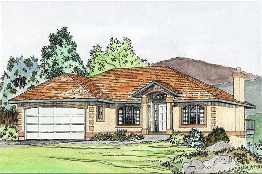 3-Bedroom, 1423 Sq Ft Craftsman House Plan - 177-1036 - Front Exterior