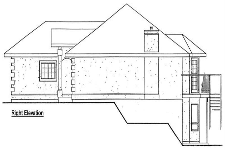 Home Plan Right Elevation of this 3-Bedroom,1423 Sq Ft Plan -177-1036