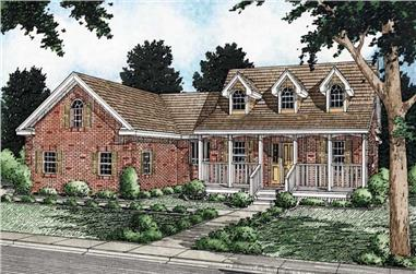 3-Bedroom, 1734 Sq Ft Cape Cod House Plan - 177-1038 - Front Exterior