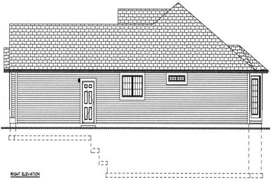 Home Plan Right Elevation of this 3-Bedroom,1546 Sq Ft Plan -177-1039