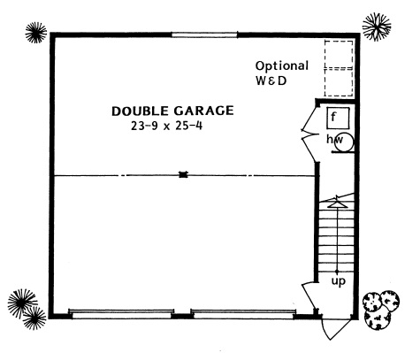 177-1040: Floor Plan Garage