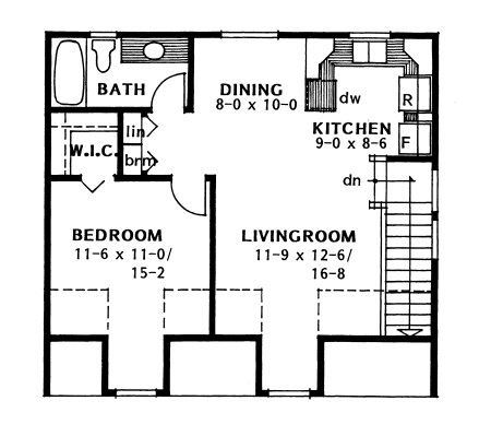 177-1040: Floor Plan Upper Level