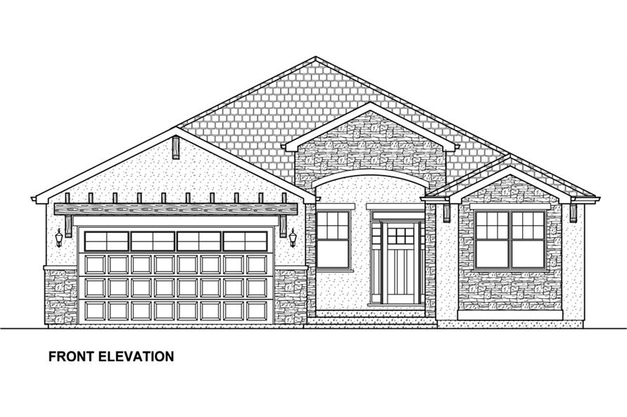 Home Plan Front Elevation of this 5-Bedroom,3850 Sq Ft Plan -177-1041
