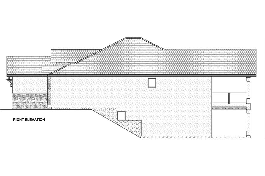 Home Plan Right Elevation of this 5-Bedroom,3850 Sq Ft Plan -177-1041