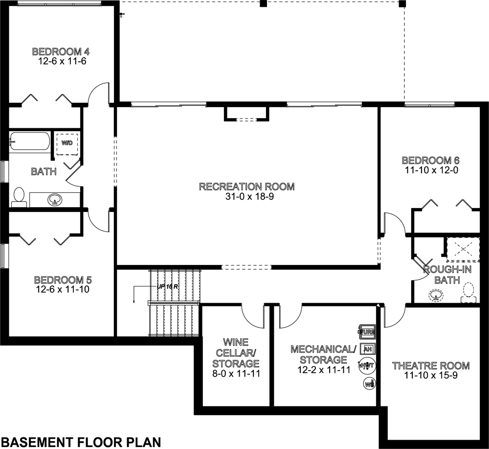 Mediterranean house plan 177 1042 3 bedrm 4290 sq ft Cost of building a basement per square foot