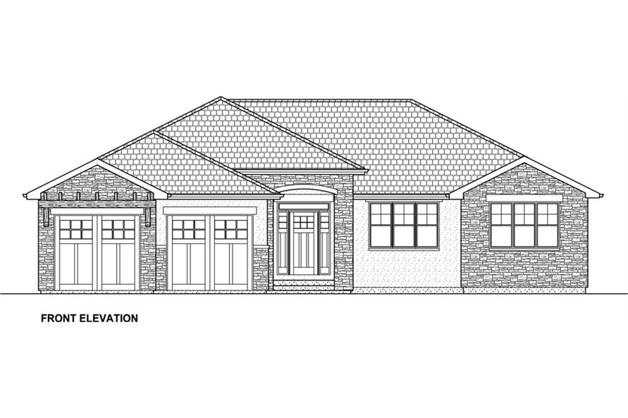 177-1042: Home Plan Front Elevation