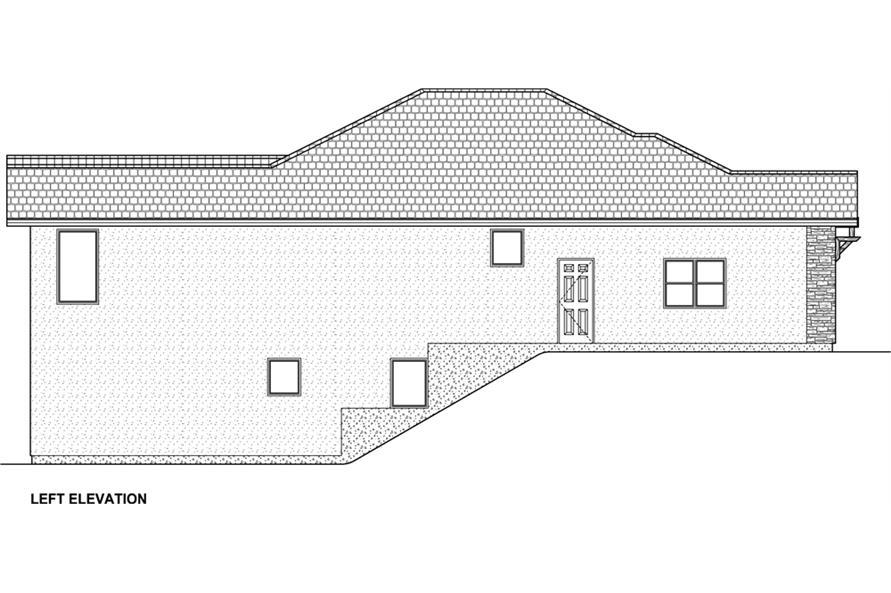177-1042: Home Plan Left Elevation