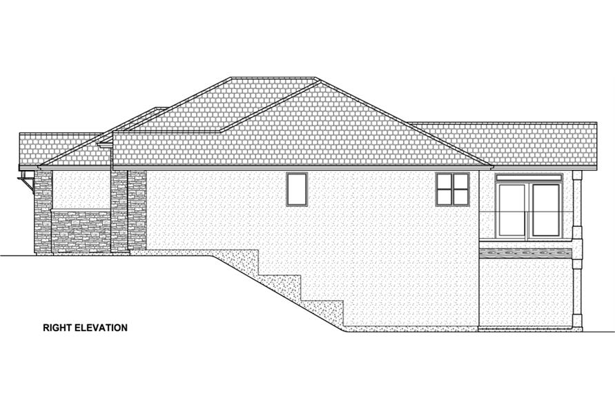177-1042: Home Plan Right Elevation
