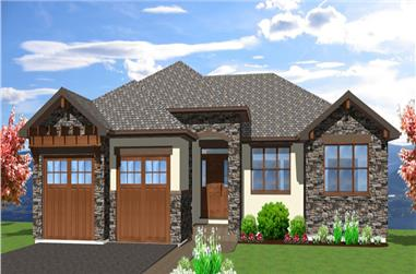 3-Bedroom, 4290 Sq Ft Mediterranean Home Plan - 177-1042 - Main Exterior