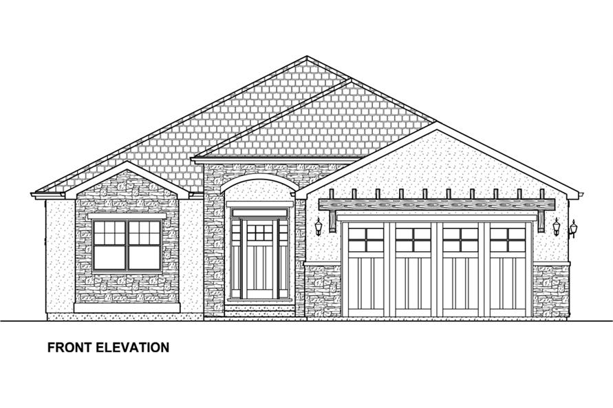 Home Plan Front Elevation of this 3-Bedroom,3952 Sq Ft Plan -177-1043