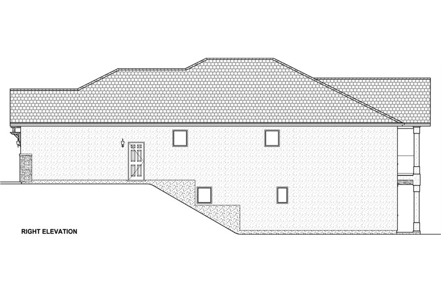 Home Plan Right Elevation of this 3-Bedroom,3952 Sq Ft Plan -177-1043