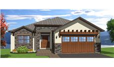 Front elevation of Mediterranean home (ThePlanCollection: House Plan #177-1043)