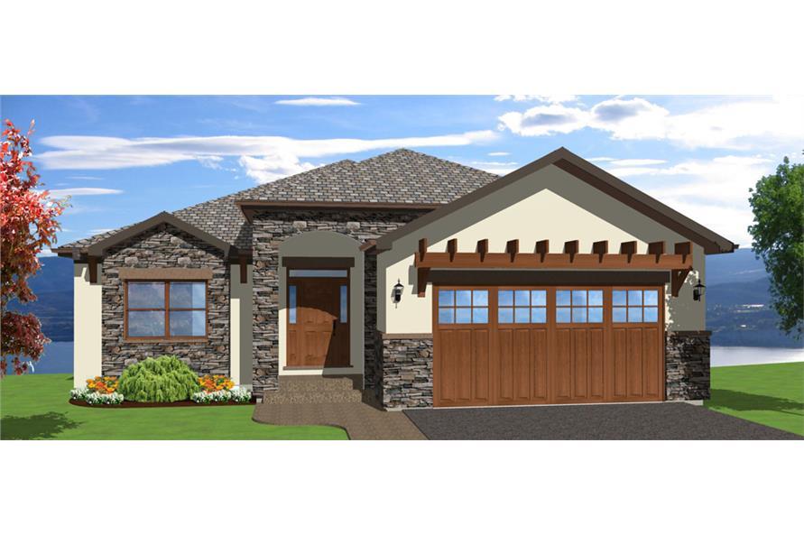 3-Bedroom, 3952 Sq Ft Mediterranean House Plan - 177-1043 - Front Exterior