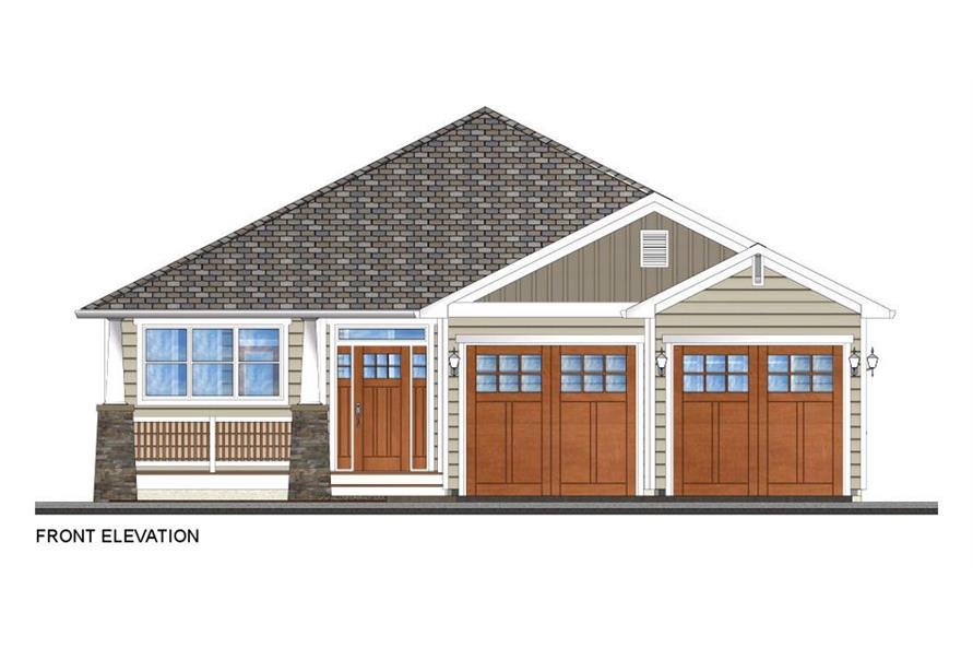 Home Plan Front Elevation of this 3-Bedroom,1403 Sq Ft Plan -177-1044
