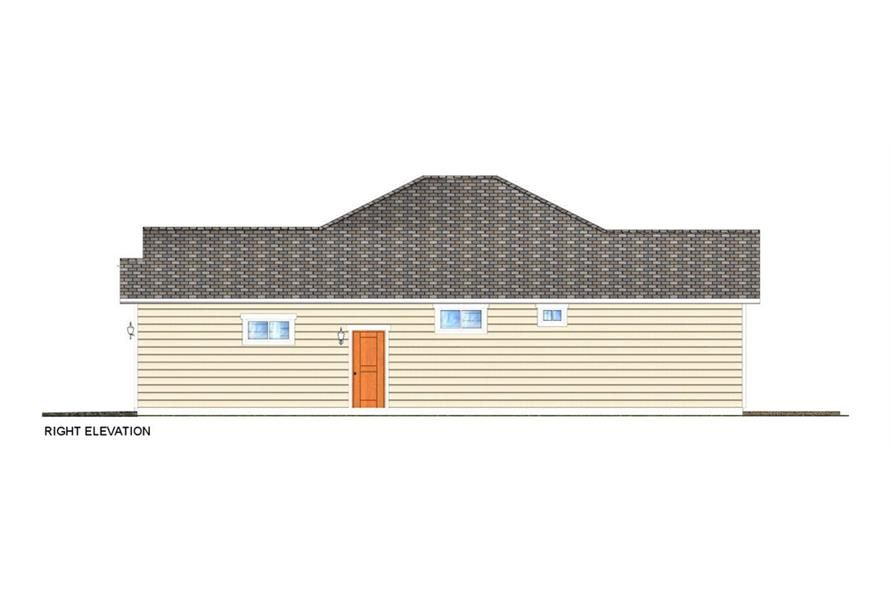 Home Plan Right Elevation of this 3-Bedroom,1403 Sq Ft Plan -177-1044