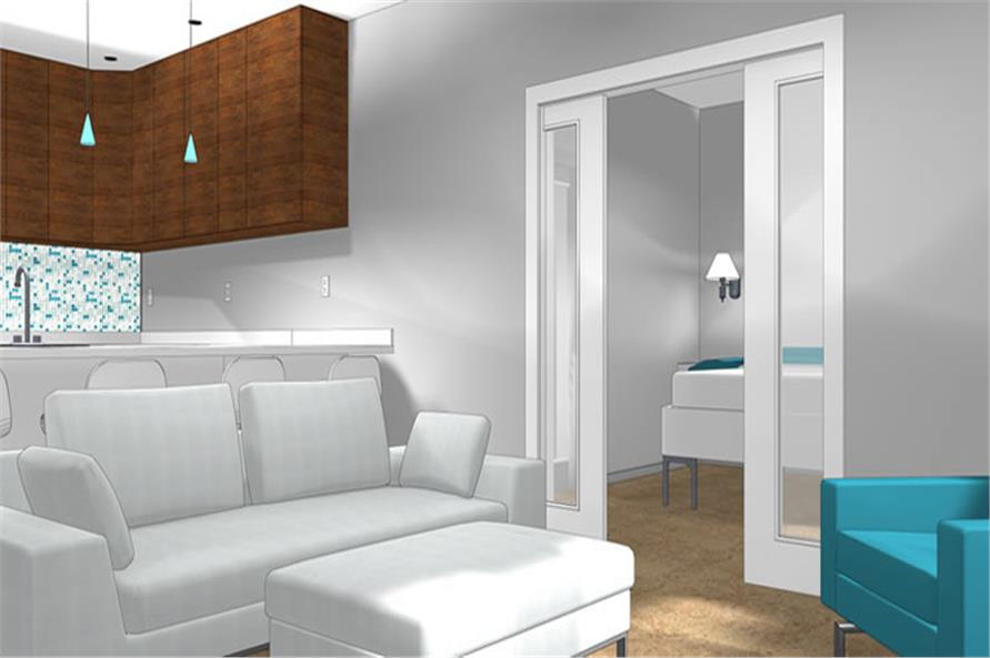 Home Plan Other Image of this 1-Bedroom,762 Sq Ft Plan -177-1045