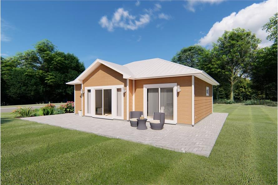 Right View of this 1-Bedroom,796 Sq Ft Plan -796