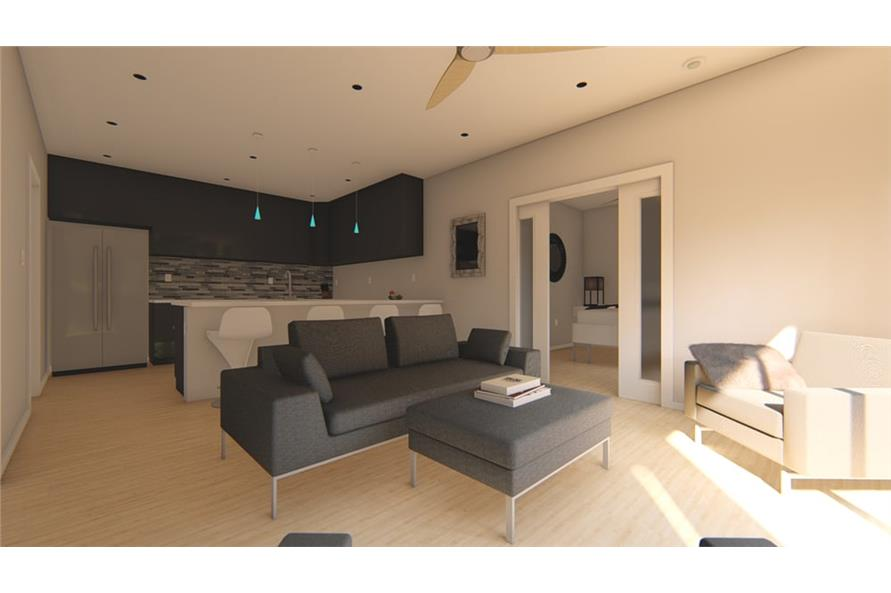Great Room of this 1-Bedroom,796 Sq Ft Plan -796