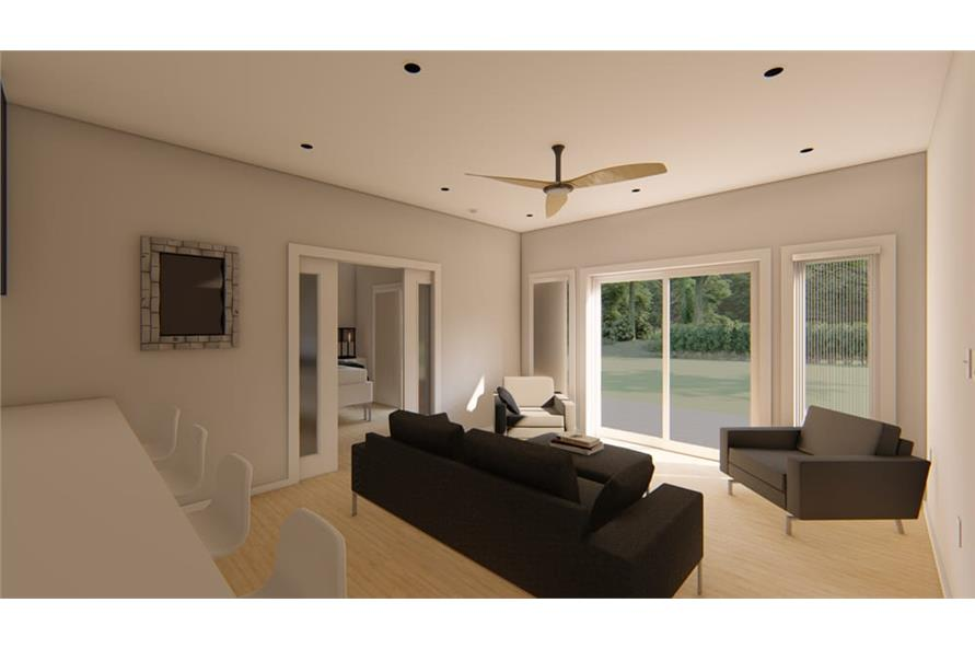 Living Room of this 1-Bedroom,796 Sq Ft Plan -796